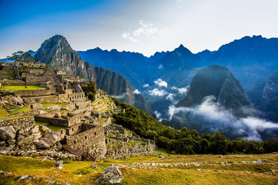 Sunrise Mist at Machu Picchu